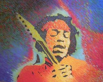Jimi Hendrix On Fire