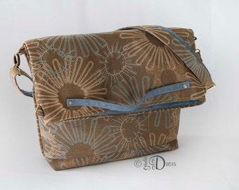 Messenger Bag, Crossbody bag, Convertible Tote Bag, Travel Bag, Fold over Messenger bag