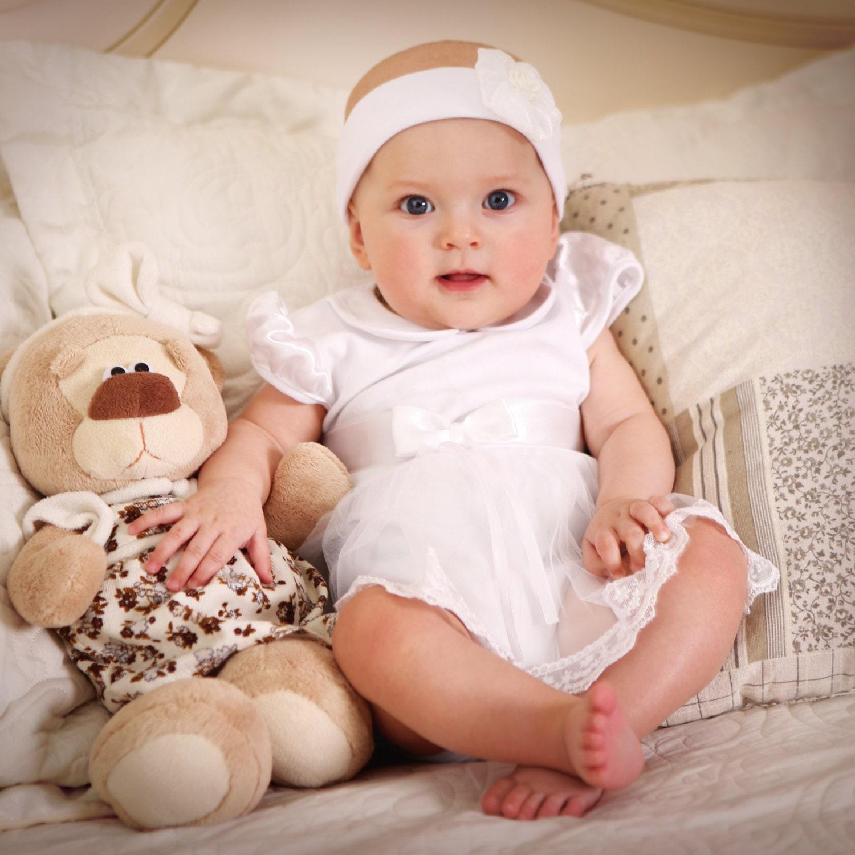 baby girl baptism dress handmade baby dress by handmadestorets. Black Bedroom Furniture Sets. Home Design Ideas