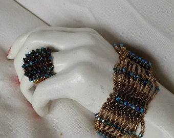 swarovski sultan's bracelet and ring