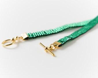 Emerald Green Skinny Bracelet