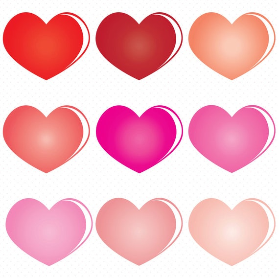 Heart Shape Clip art Colorful Heart Clip Art Valentines day