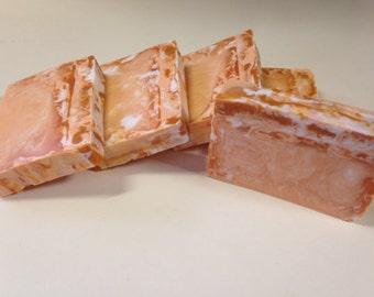 Orange Creamsicle swirl Soap - Goat's milk soap