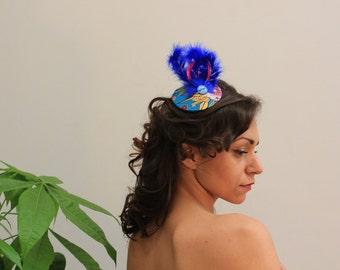 Fascinator blue and Japanese Love F5J