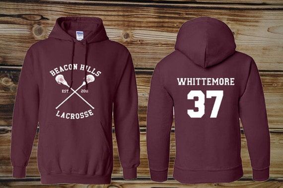 Personalized back Teen Wolf  Whitemore 37 Maroon Pullover Sweater Sweatshirt Hoodie