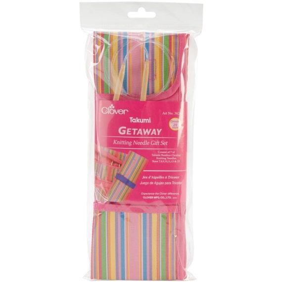 Knitting Gift Set : Clover getaway knitting needle gift set quot circular
