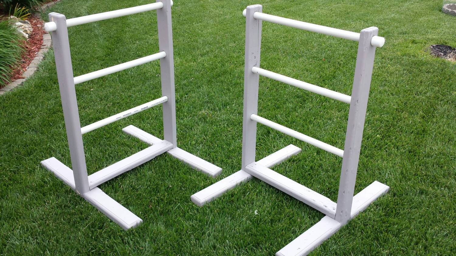 Pvc Ladder Rungs : Homemade hillbilly golf ladder set