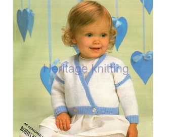 crossover cardigan dk knitting pattern 99p pdf