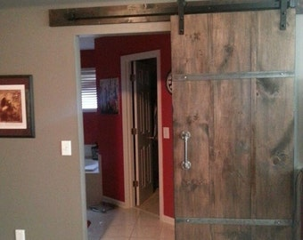 Sliding Barn Door w/ Handle and Track - ready to install