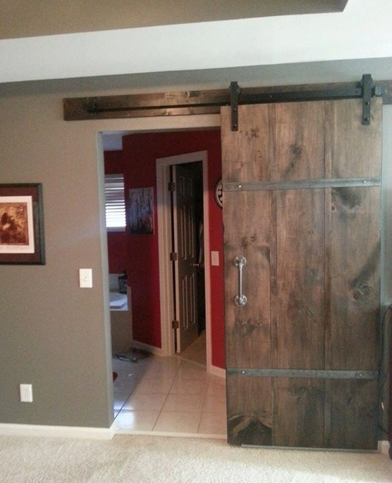 Sliding Barn Door W Handle And Track Ready To Install