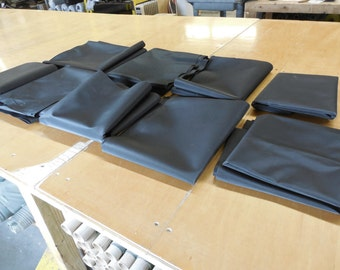 15 lbs. Black PVC-Backed Polyester 12.5 oz. Remnants, Free Shipping!
