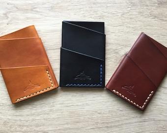 Portefeuille en cuir ultra-compact personnalisé