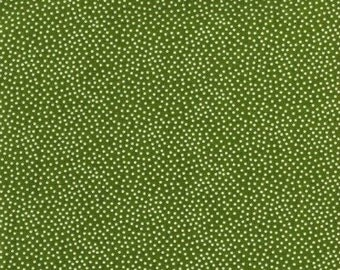 Michael Miller - CX1065-OLIV-D - Green - Dot - Pin Dot - Poka Dots - Olive