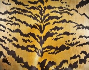 SCALAMANDRE LE TIGRE Tiger Silk Velvet Fabric 3 Yards