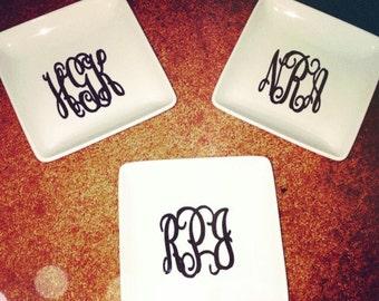 Large monogram ring/ Jewlery dish