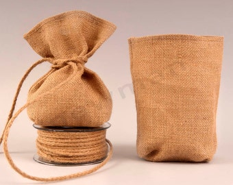 Set of 100 Burlap favor bags