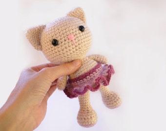 PATTERN : Cat - Kitty - Amigurumi Cat pattern - Crochet pattern-Knitted Stuffed animals- doll-toy-baby shower