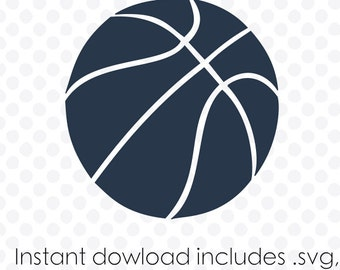 Basketball instant download (zipped .eps .pdf .dxf .svg and .studio files) vector cutting files
