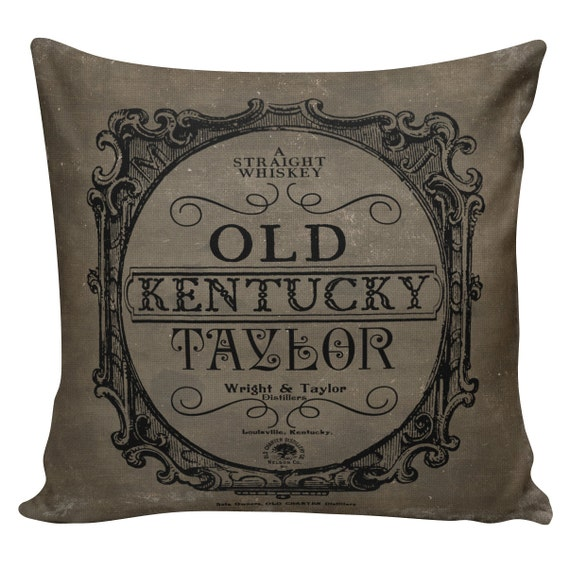 Decorative Cotton Pillow Cover Cushion Old Kentucky Taylor