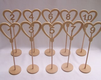 Freestanding MDF Wedding Table Numbers RAW