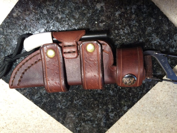 Custom handmade leather knife sheath by kecleather on etsy