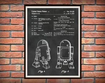Patent 1979 Star Wars R2D2 Robot - Art Print - Poster Print - Wall Art - George Lucas - Twentieth Century Fox Robot - Lucas film