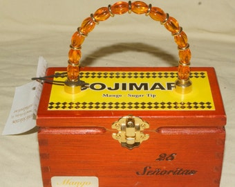 Vintage Sally's Seaside Selection Cojimar Cigar Box Hangbag/Purse