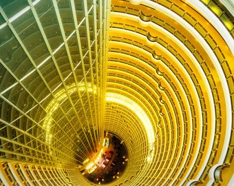 Urban Landscape Fine Art Print, China, Jin Mao tower atrium, Shanghai