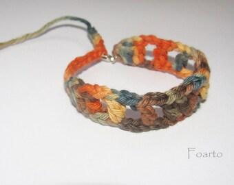 Multicolored friendship bracelet friend bracelet crochet cotton bracelet adjustable bracelet gift for friends (CB-11)