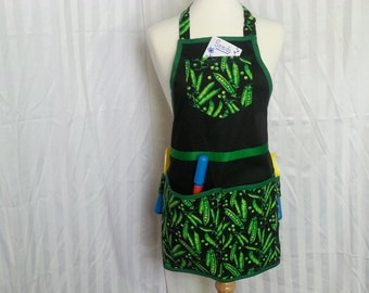Gardening Apron with Pea's