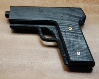 Hand made wooden glock-style pistol