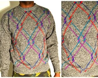 Grey knit Sweater Size L