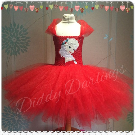 Christmas elsa tutu dress inspired handmade tutu dress elsa dress