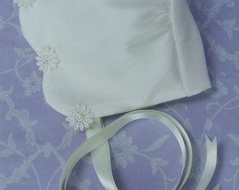 Daisy Silk Christening Bonnet by Okika , made in England