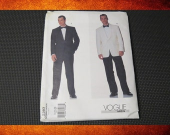 BIG SALE Sewing Pattern - Vogue Men 2383 Suit.  Sizes 32-34-36. #PAT-011