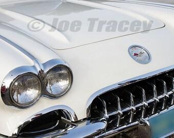 1960 Chevrolet Corvette, Classic Cars, Automotive Decor, Automobile Photography, Wall Art, Old Cars, Car Pictures