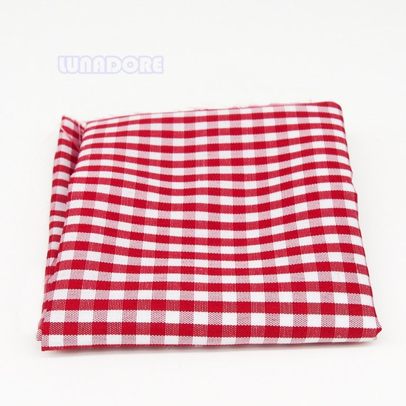 Gingham Rug: 1:12 Red Gingham Picnic Rug Tablecloth Table By CynclayDesigns