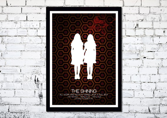 The Shining // Stanley Kubrick // Minimalist Movie Poster // Unique Art Print