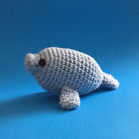 Crochet Amigurumi Manatee : Crochet Amigurumi Manatee by EmmandSkootch on Etsy