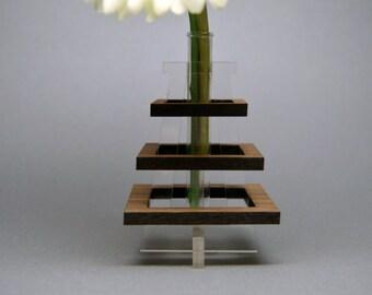 Wooden and Acrylic Bud Vase
