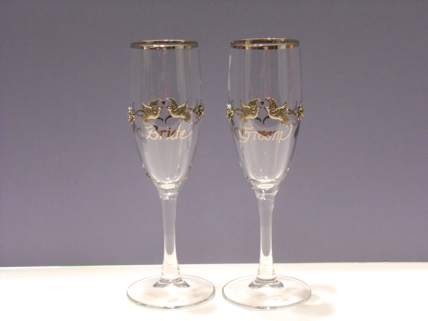 Wedding Champagne Toasting Glasses Rawcliffetwo Pewter