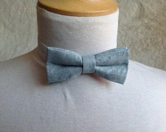 silver grey bow tie for children