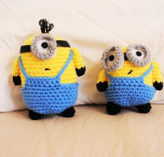 Amigurumi Minion Etsy : amigurumi minion plushies by samanthasfriends on Etsy