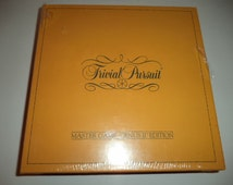 Vintage 1984 Trivial Pursuit Master Game Genus II Edition Board Game : Sealed Chieftain Games