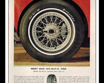"Vintage Print Ad March 1966 : Firestone Super Sport 500 Tires Automobile Wall Art Decor 8.5"" x 11"" Advertisement"