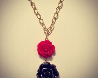 Roses are Red + Gold + Silver Necklace