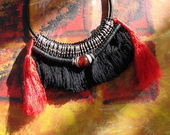 Amazon necklace - ethnic necklace - Amazon Indians - Souvenir of the river - campfire