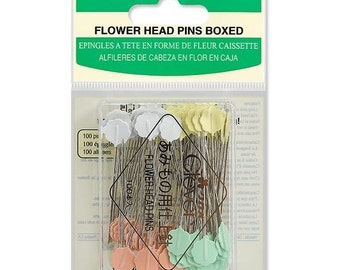 Flower Head Pins by Clover ~ Box of 100 Item CLQ2506