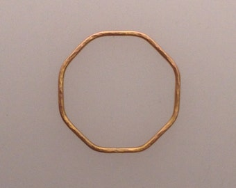 Octagon ring in solid 18k rose gold (LCR003)