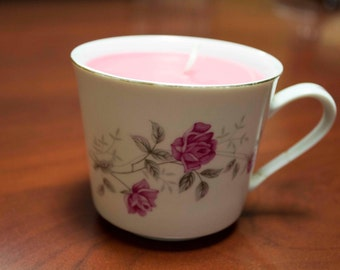 Rose Teacup Candle